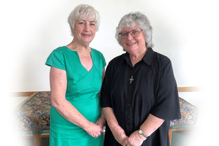 Catherine, Musical Director with Rev Mary Petersen