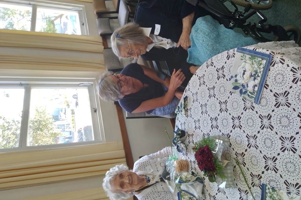 Special Guest - Eva who is 102 years young