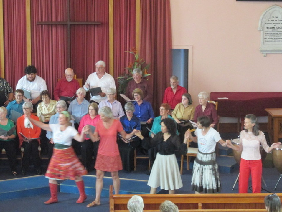 Good Folk Dancers led by Jane