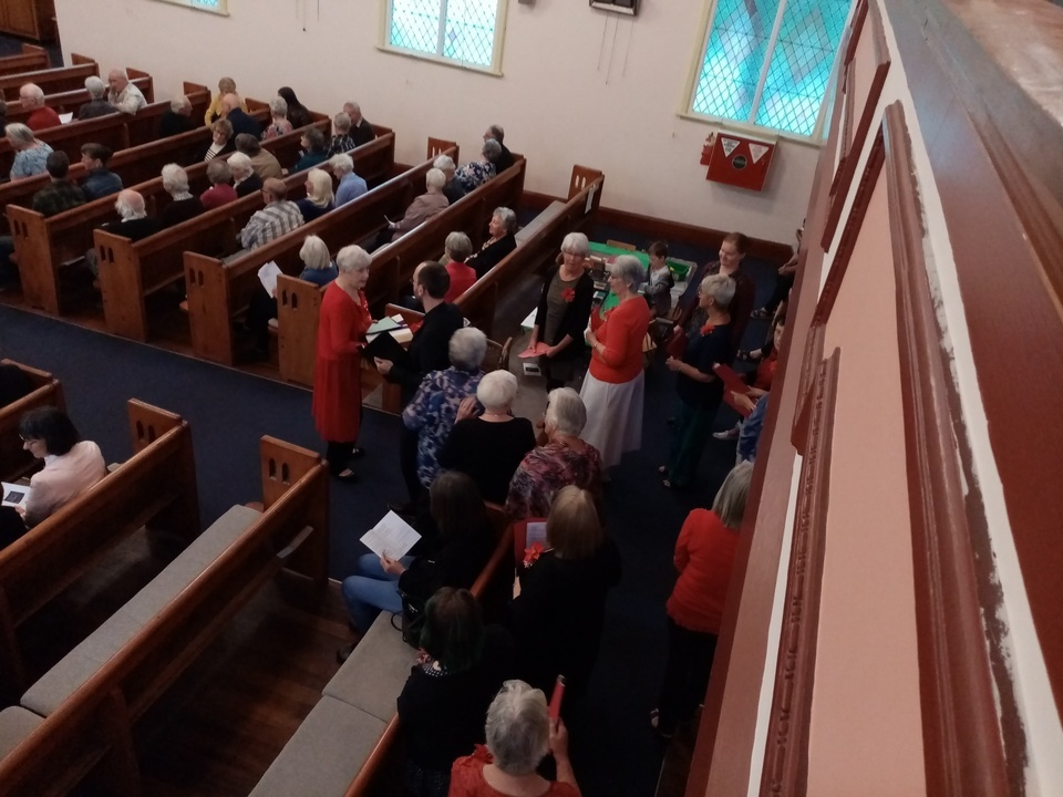 Entry of choir - Combined Churches Service 13 December 2020 St Andrew's