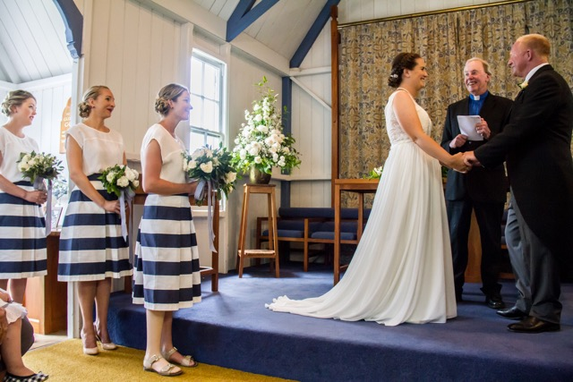 Wedding officiated by Rev Fraser Paterson