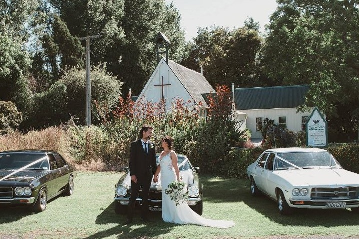 Wedding at Matawhero Church